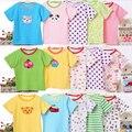 2017 новая мода мальчиков футболки девушки летом с коротким рукавом мультфильм печати детские Футболки новорожденного милый хлопка одежды