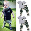 Cute Bbay Clothes Camouflage Newborn Baby Boys Girls Toddler Outfits Top + Pants Camouflage Clothes Sets 0-3Y