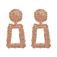 JUJIA good quality wholesale women statement earring fashion geometric metal Earrings for women jewelry earring
