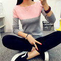 High Elastic Knitted Sweater Women2016 Spring Autumn Split Ladies Sweaters And  Female Rose Jumper Knitting Sweater Woman