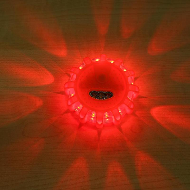 15LED Car Emergency Strobe Flashing Warning Light Auto Roof Beacon Road Safety Lamp Orange Car Roof Police Light Bar