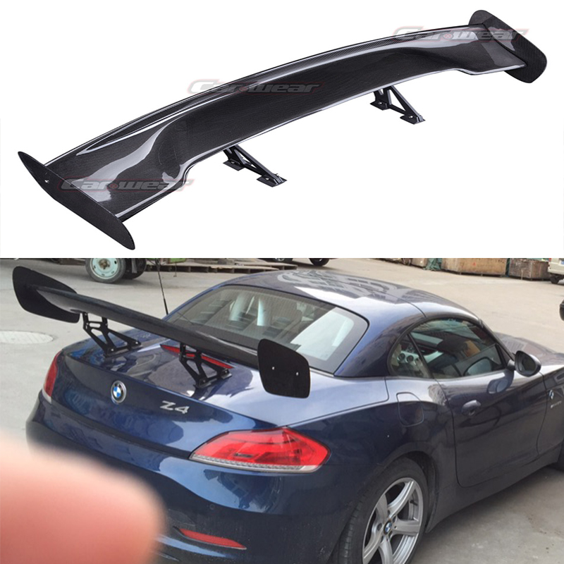 Universal Auto Car Rear Spoiler Wing for Any Car GT Spoiler 1.44 Meters Carbon Fiber car styling carbon fiber auto rear wing spoiler lip for vw scirocco 2010 2012
