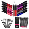 Qibest Makeup Set 12 Colors Lip Gloss 12 Colors Pencil 12 Lip Brush Matte Bright Colorful