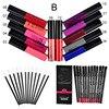 Qibest Makeup Set 12 Colors Lip Gloss 12 Colors Pencil 12 Lip Brush Matte Bright Colorful