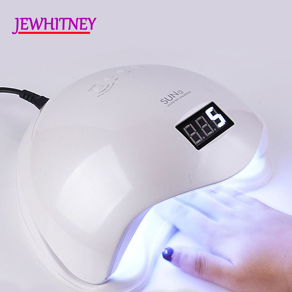 48W UV Nail Lamp LED Lamp For Manicure Nail Dryer For All Gels Polish With Infrared Sensing 10/30/60s LCD display Light t2n2 24w nail dryers uv mini led lamp nail dryer polish machine curing light with lcd display manicure machine for all gels