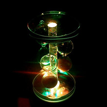 Серый круглый кристалл 4 Светодиодный свет музыкальная шкатулка хрустальный ящик база украшения на подарочную коробку Прямая подарок