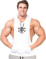 Sportswear Bodybuilding Stringer Sleeveless Skull Hoodies Men Hoodie Fitness Fashion Gym Sweatshirt Sports Muscle Clothes