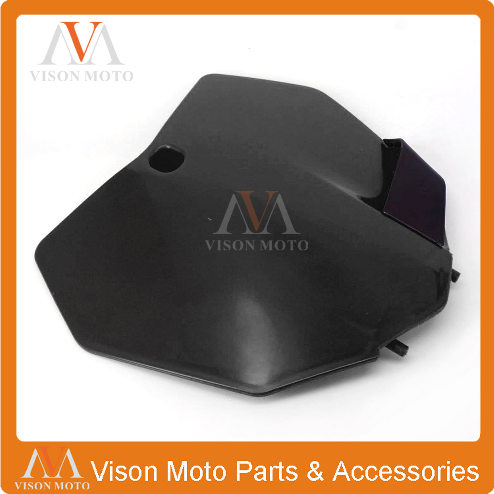 Motorcycle Plastic Front Number Plate For KTM 2013 2014 2015 SX SXF XCF 125 250 350 450 Dirt Pit Bike Motorcross Enduo front plastic number plate fender cover fairing for honda crf100 crf80 crf70 xr100 xr80 xr70 style dirt pit bike