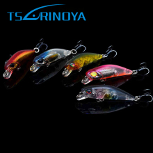 Tsurinoya Wobbler 3pcs/lot Mini Minnow 14# BKK Hooks For Fishing Lure 42mm/2.8g Artificial Hard Baits Pesca Carp Fishing Tackle