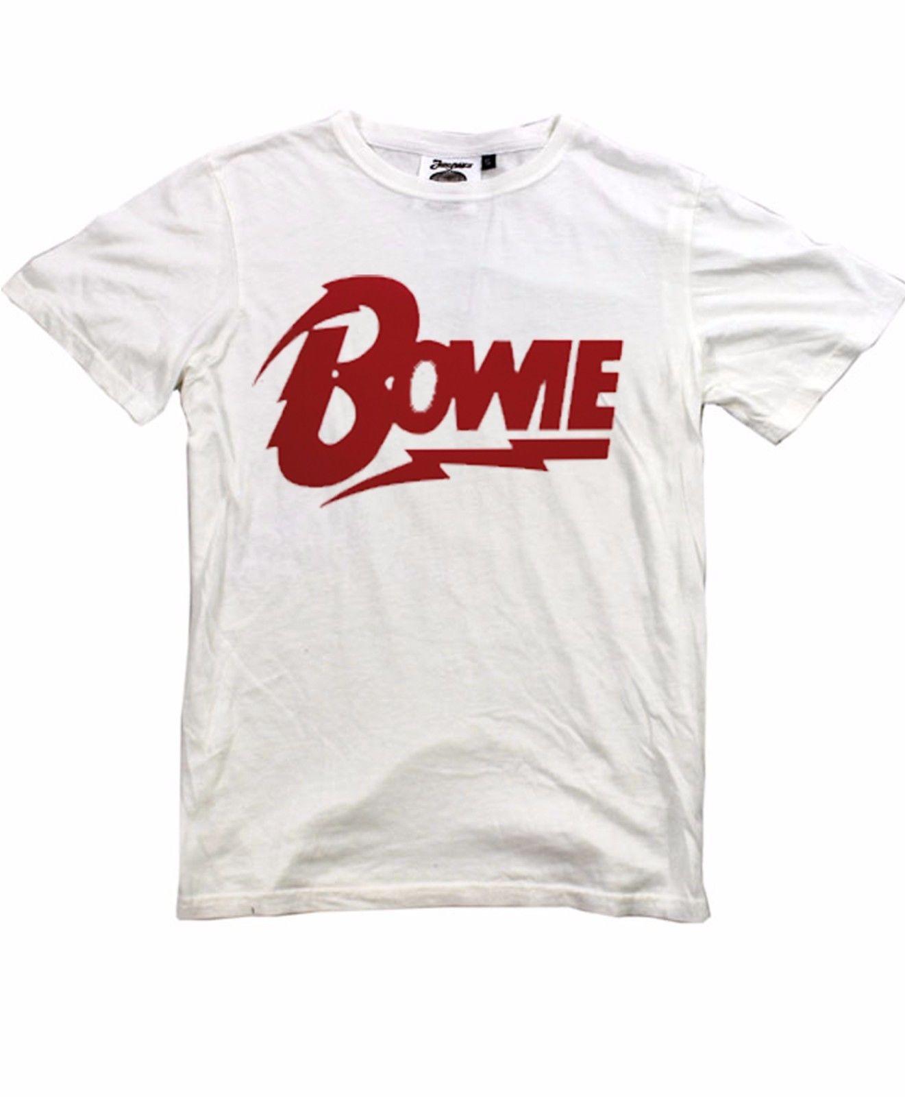 david bowie t shirt sizes s m l xl xxl new white t shirt vintage 80 39 s pop t shirt brand 2018. Black Bedroom Furniture Sets. Home Design Ideas