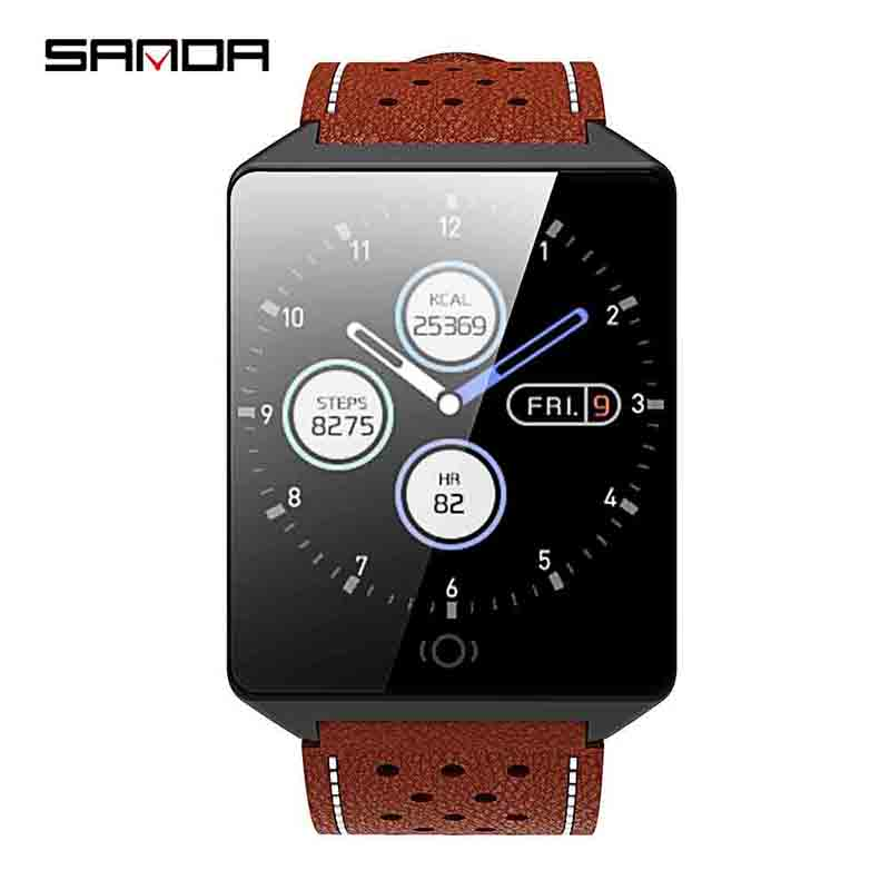 SANDA Smart watch CK19 IP67 Waterproof Tempered Glass Heart Rate Monitor Blood Pressure Fitness Tracker Men Women SmartwatchSANDA Smart watch CK19 IP67 Waterproof Tempered Glass Heart Rate Monitor Blood Pressure Fitness Tracker Men Women Smartwatch