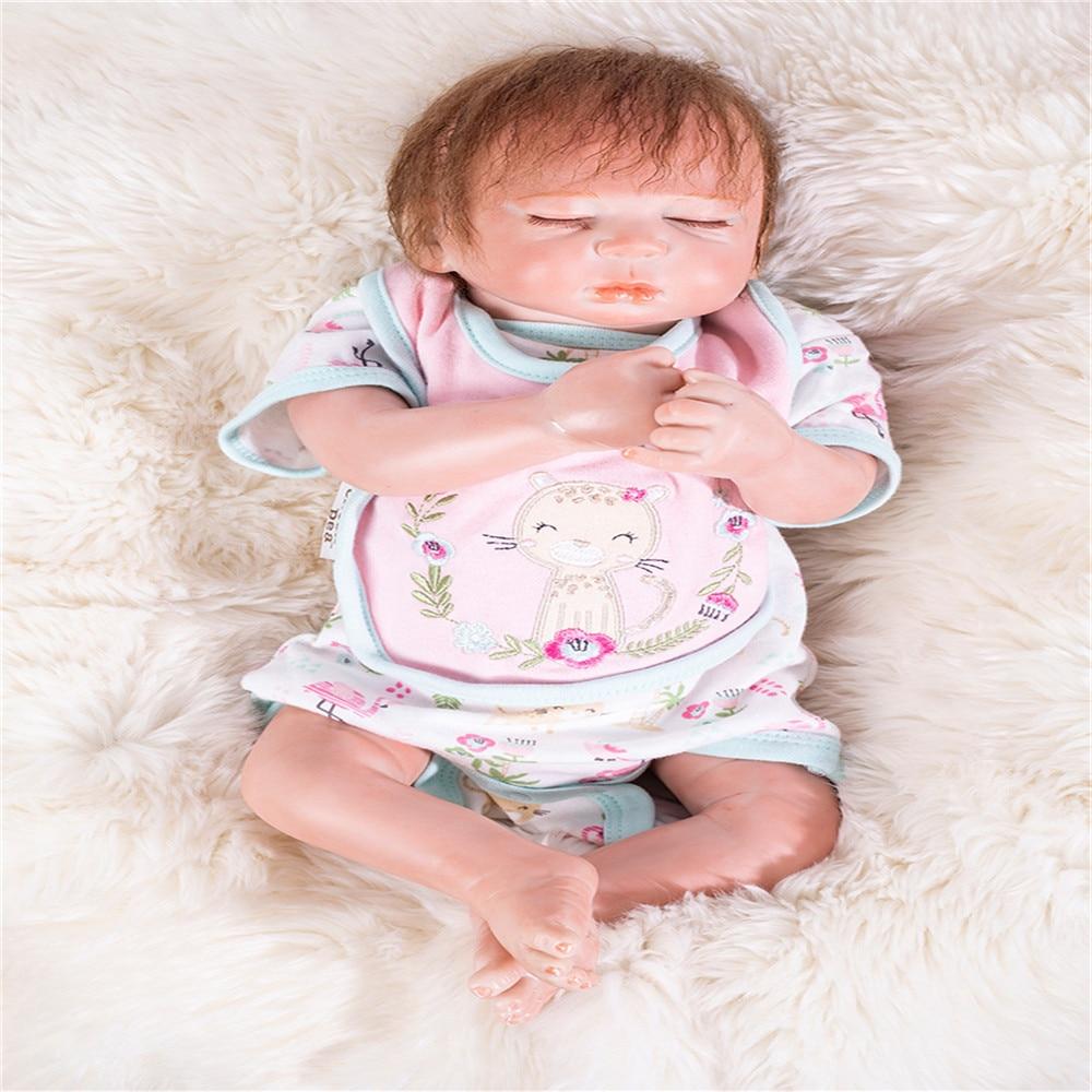 SanyDoll 19 inch 49 cm Silicone baby reborn dolls, lifelike doll reborn  sleeping baby birthday giftSanyDoll 19 inch 49 cm Silicone baby reborn dolls, lifelike doll reborn  sleeping baby birthday gift