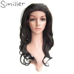 Similler длинные волнистые синтетические волосы теплостойкость 3/4 Половина Парики 613 чёрный; коричневый 8 цветов