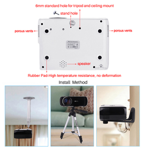 Image 5 - Everycom X7 Mini USB projector android led beamer full hd video portable home cinema Pocket TV theater video projecteur 3D