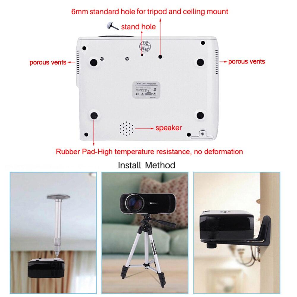Домашний кинотеатр Мини Портативный HDMI USB ЖК светодиодный мини микро Пико 3D проектор HD 1080P прожектор проектор, мультимедийный проектор - 6