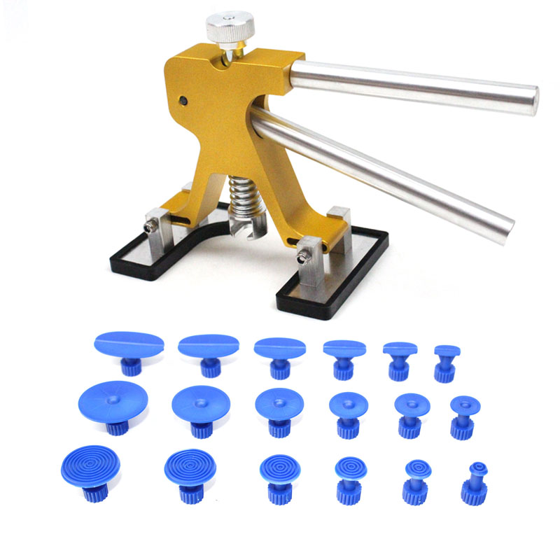 Adjustable Dent Lifter With 18pcs Car Body Hail Glue Puller Tabs Paintless Removal Tools Pdr Dent Repair removal glue dent dent tools paintless pdr lifter hail puller car repair