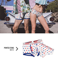 New 2016 Pink Hero Brand Cotton Fashion Sexy Star Stripes Mens Print Shorts Boxer Couples Underwear Comfy Shorts male panties