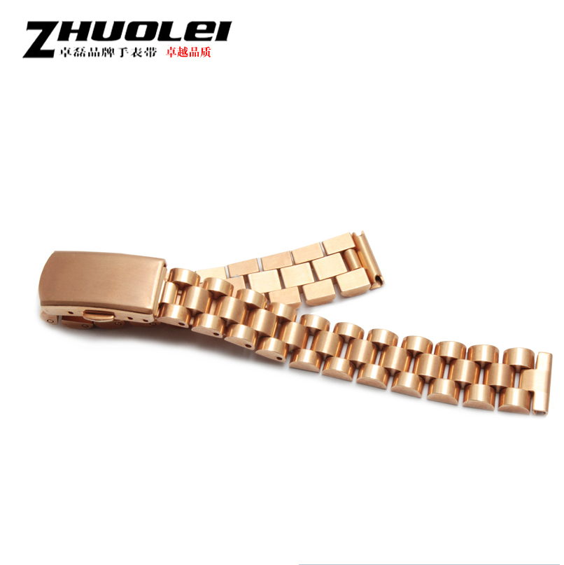 Watch Accessories Small size 10mm 12mm 14mm 16mm Rose gold stainless steel watchbands strap deployment watch