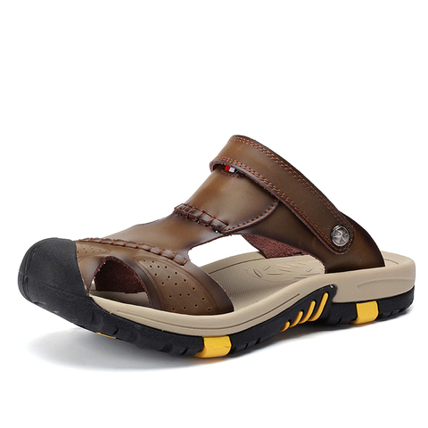 VESONAL 2019 Summer Non-slip Outdoor Hiking Shoes Men Casual Sandals Breathable Fashion Comfortable Beach Sandals 9087 Lahore