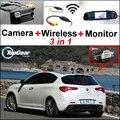 3 in1 Câmera Wi-fi Sem Fio + Receptor + Espelho Especial Monitor de DIY FÁCIL Sistema De Estacionamento Para Alfa Romeo Giulietta 940 2010 ~ 2015