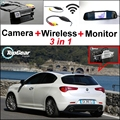 3 in1 WiFi Cámara + Receptor Inalámbrico + Espejo Especial Sistema de Aparcamiento Monitor DIY FÁCIL Para Alfa Romeo Giulietta 940 2010 ~ 2015