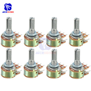 10PCS/Lot Potentiometer Resistor 1K 2K 5K 10K 20K 50K 100K 250K 500K 1MΩ Ohm 6 Pin Linear Taper Rotary Potentiometer for Arduino(China)