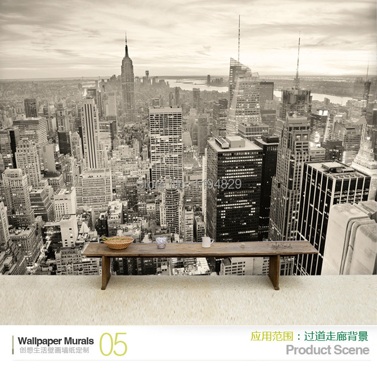 Excellent 3D Back And White New York City Mural Wallpaper Tv Sofa Ocoug Best Dining Table And Chair Ideas Images Ocougorg