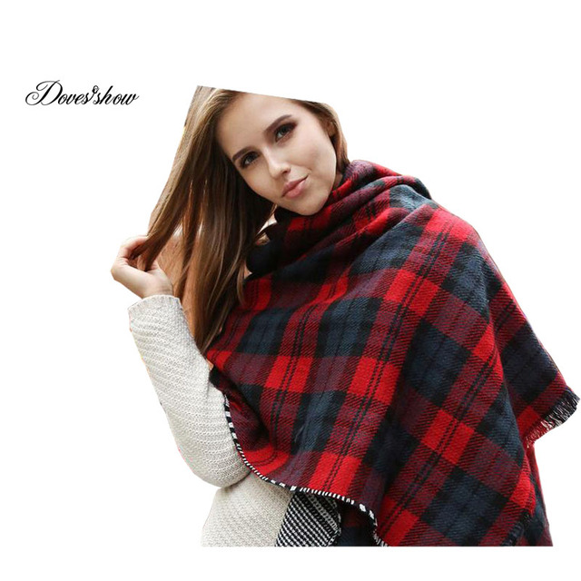 2016 New fashion burb Grid trench plaid Brand Cashmere shawl Long Scarves women infinity scarf reversible Shawl gift 180*58cm