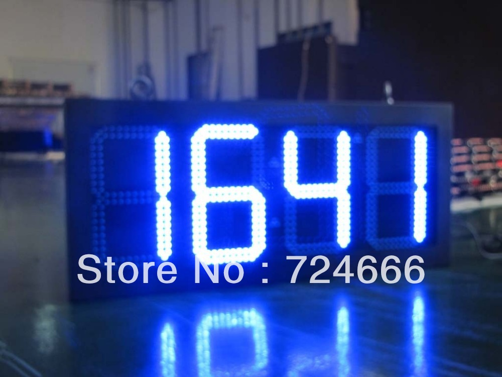 Sinosky 10 Inches Outdoor Led Clock Time Date Temperature Sign On Alibaba Red Inch 4digit Large Express Aliexpress Group