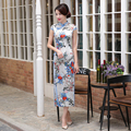 Hot Sale Women's Chinese Cheongsam Modern Qipao Dress Classical Cheongsam High Split Oriental Qipao Female Daily Dress In Spring