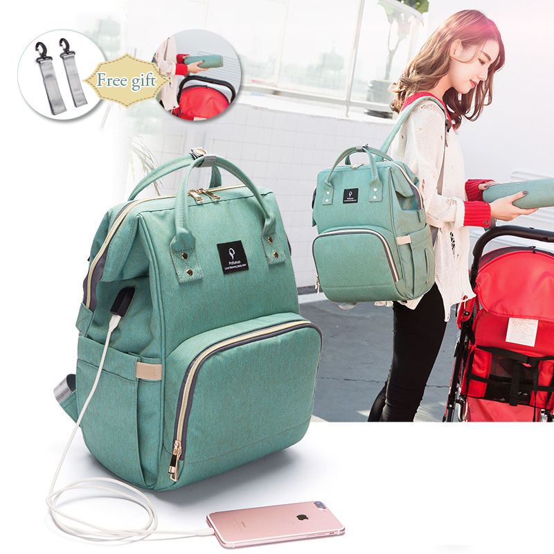 Adaptable 2018 Baby Diaper Bag With Usb Interface Waterproof Nappy Bag Kits Large Capacity Mummy Maternity Travel Backpack Nursing Handbag 100% Original