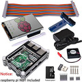 Raspberry Pi 3 2 Starter Kit Completo com Adaptador USB + 3.5 polegada Tela de Toque + 16 GB + Caso + Alimentação + GPIO Placa + Fan + Dissipador de Calor