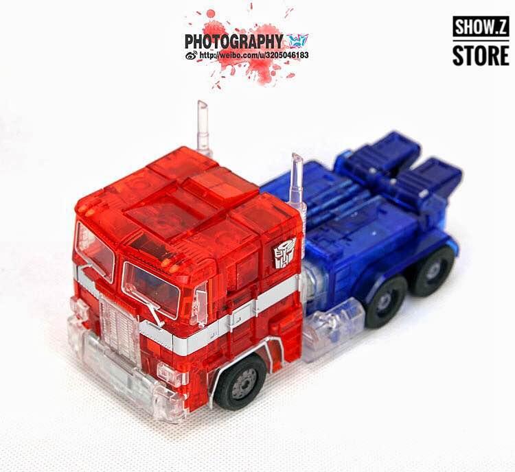 [Show.Z Store] 4th Party MP-10C Clear Version MP Size Optimus Prime+Trailer Transformation Action Figure