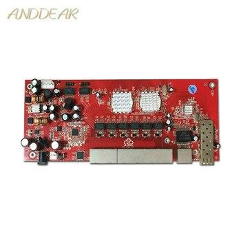 Módulo De Interruptor Industrial, Conmutador SFP De 9 Puertos Gigabit, Módulo Compatible Con AF/AT, Puente Wifi, Conmutador De Red Cpe Para Exteriores, 1000mbps