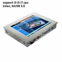 support intel core i5 i7 processor 3xUSB 3.0 2xLan 10.4 inch touch screen industrial panel PC