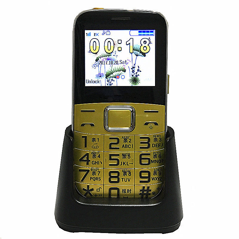 Original Senior Phone H308 Big Speaker/ Font/ Flashlight Cheap Elder/ Old Man Phone Russian Language H308