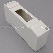 1 способ Пластиковая распределительная коробка для выключателя в помещении на стене