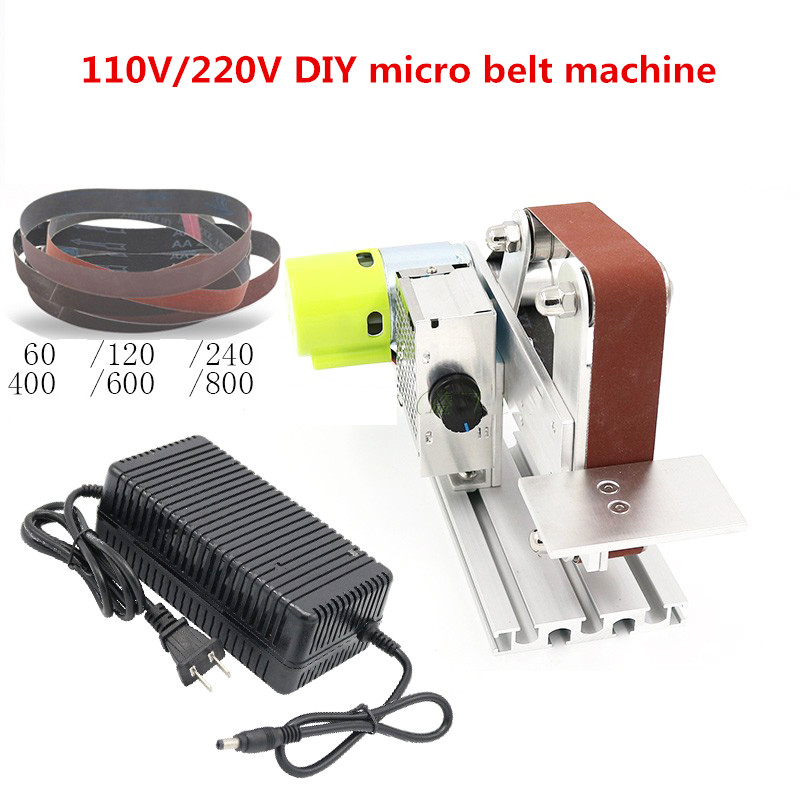 110V/220V DIY micro belt machine Electric mini polishing sanding machine Bench sander Y promotion 6pcs crib baby bedding set cotton curtain crib bumper baby cot sets include bumpers sheet pillow cover
