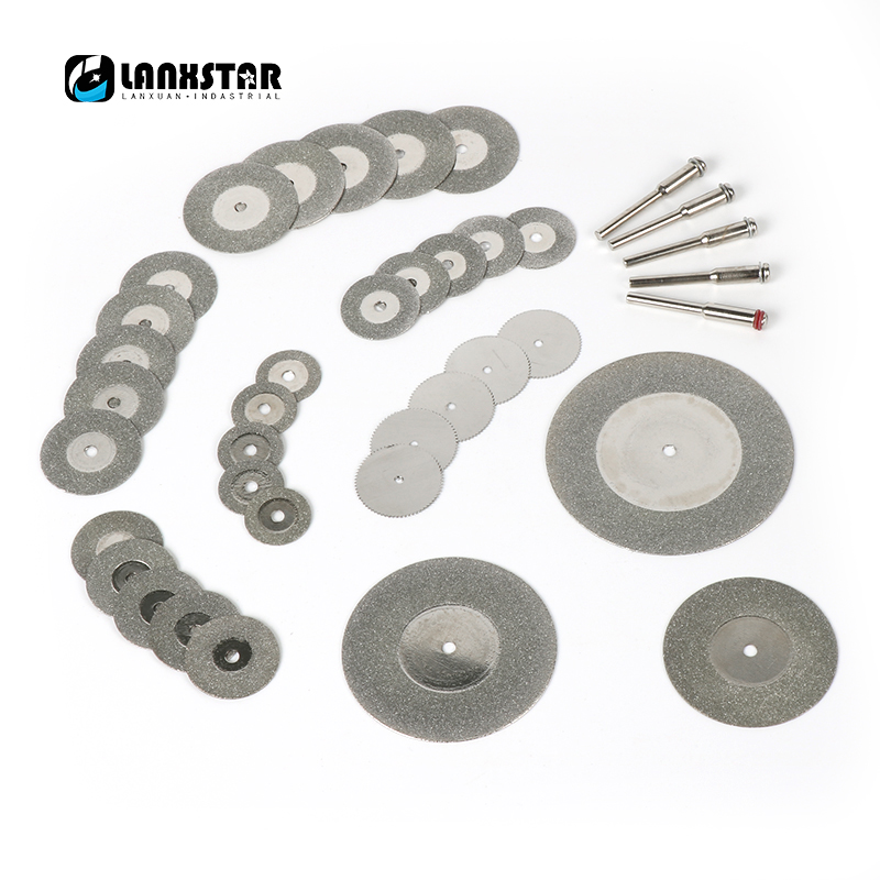 New 38PC Diamond Cutting Disc Kit for Dremel Style Hand Drill Rotary Tool Accessories Mini Circular Saw Blade Grinding Wheels wheel cutting blade grinding resin slice toothless saw micro drill tool diameter of 3510 parts