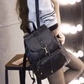 2017 new Pu leather backpack women shoulder bag fashion female Korean style girls school bags casual travel backpacks