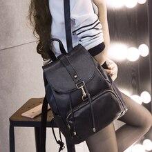 2017 nouveau Pu sac à dos en cuir femmes sac à bandoulière mode femme Coréenne style filles école sacs à dos de voyage occasionnel