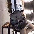 2017 nuevo cuero de La Pu mochila mujeres bolsa de hombro moda femenina estilo Coreano girls bolsas escuela mochilas de viaje ocasionales