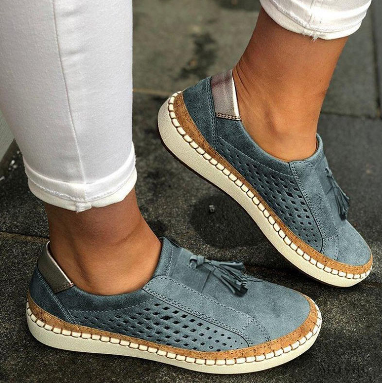 Loafers Oxford-Shoes Flats-Leather Vintage Women Sneakers Tenis Feminino Comfort Slip-On
