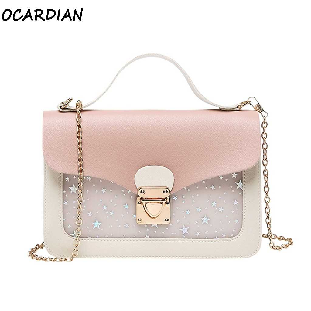 OCARDIAN Handbags Women Bag-2019 Crossbody 2019 New Retro Fashion Luxury Handbags Women Bags Designer Lock Leather Dropship A23