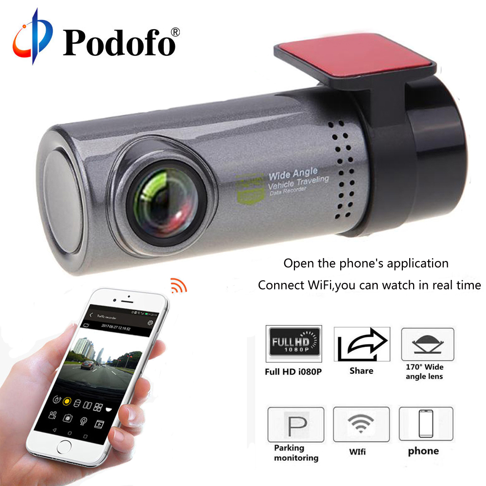 buy podofo mini wi fi car dash cam dvr 30fpsforapp monitor hd hidden cars. Black Bedroom Furniture Sets. Home Design Ideas