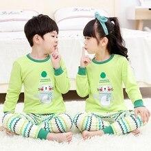 Children Underwear Set Boys Girls Long Sleeve Sleepwear Cotton Long Johns for Teenage Cartoon Rabbit Nightwear Pajamas Suit