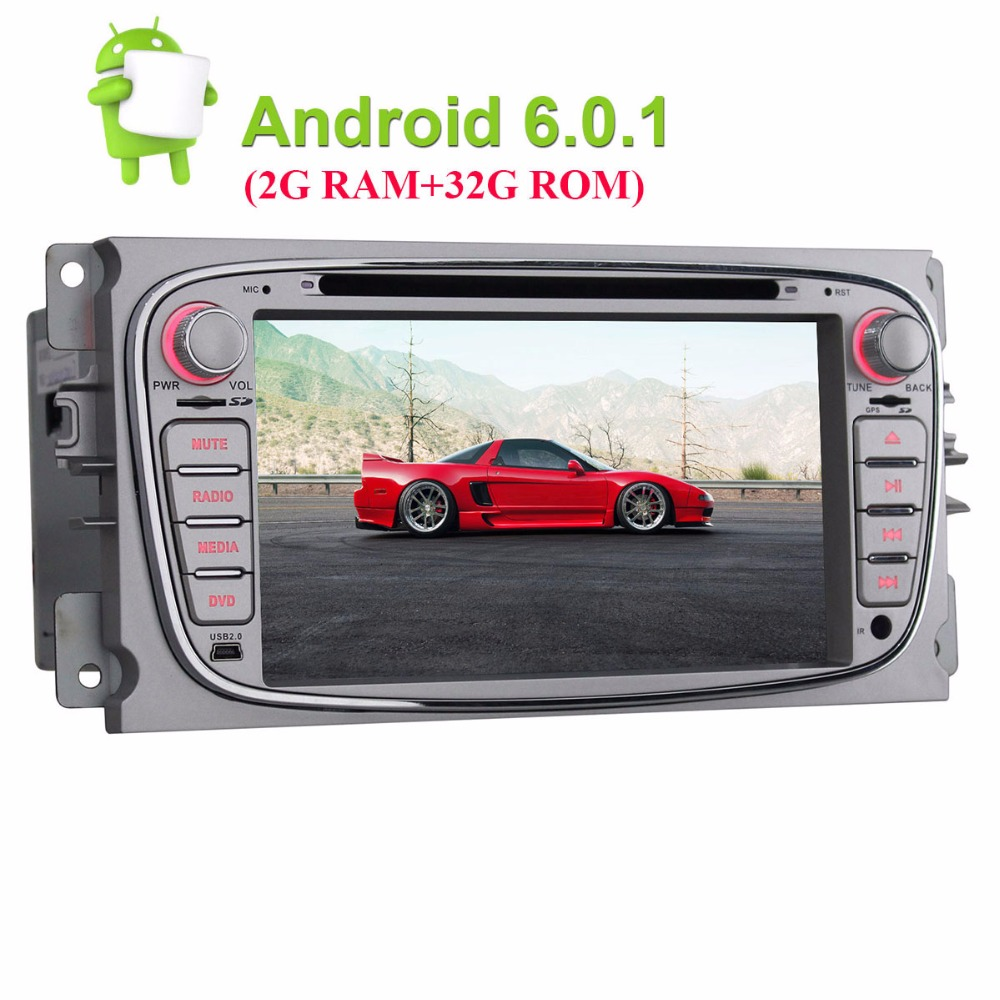 Double 2 din 7 quad core car radio stereo for ford focus android 6 0 gps