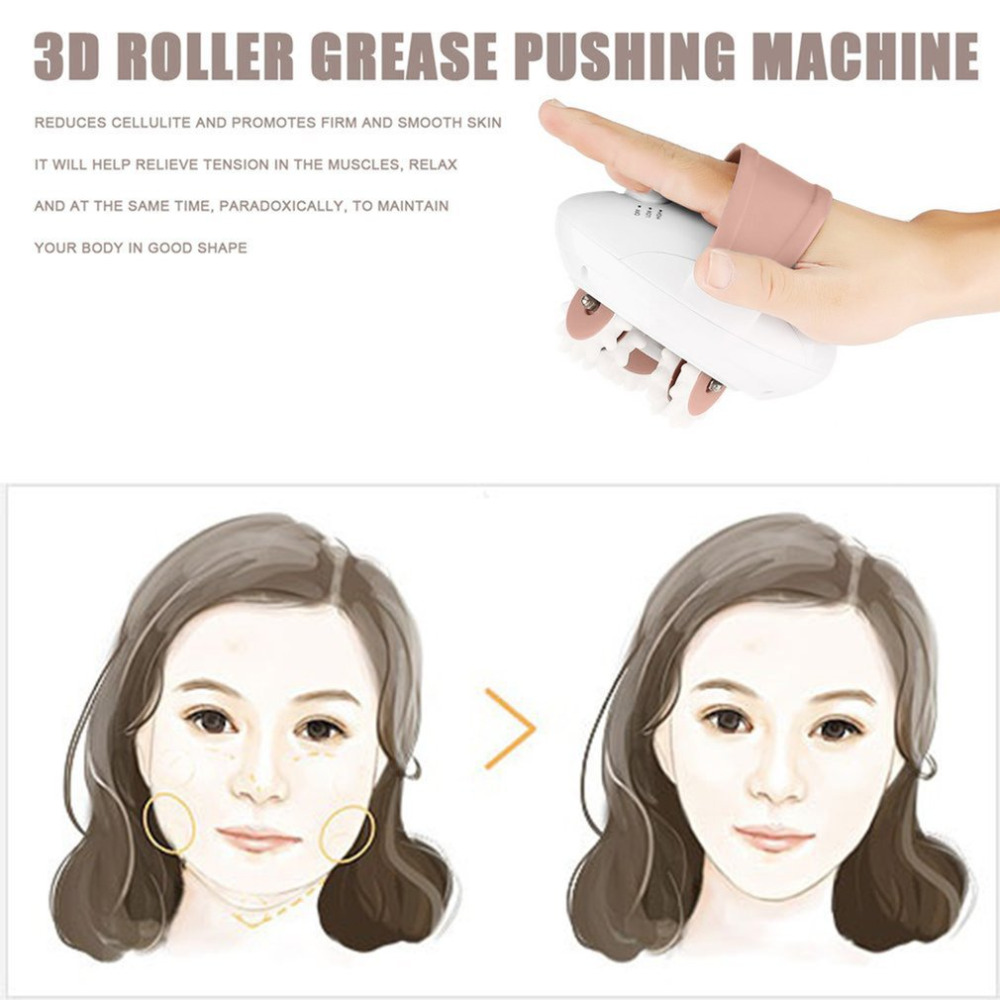 Compact Size 3D Mini Facial Kneading Massage Roller Electric Anti-Cellulite Control System Massager Body Slimmer Top Sale 2017 hot sale mini electric massager digital pulse therapy muscle full body massager silver