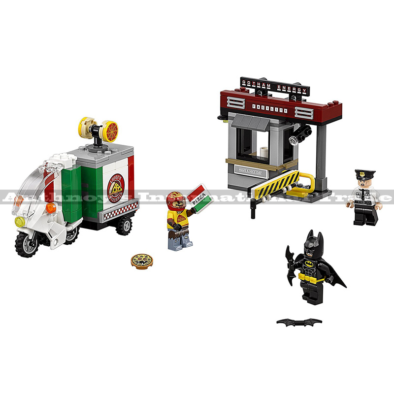 Lepin 07057 Genuine Movie Series The Scarecrow Pizza Delivery Car Set 70910 Building Blocks Bricks Educational Toys 204PCS