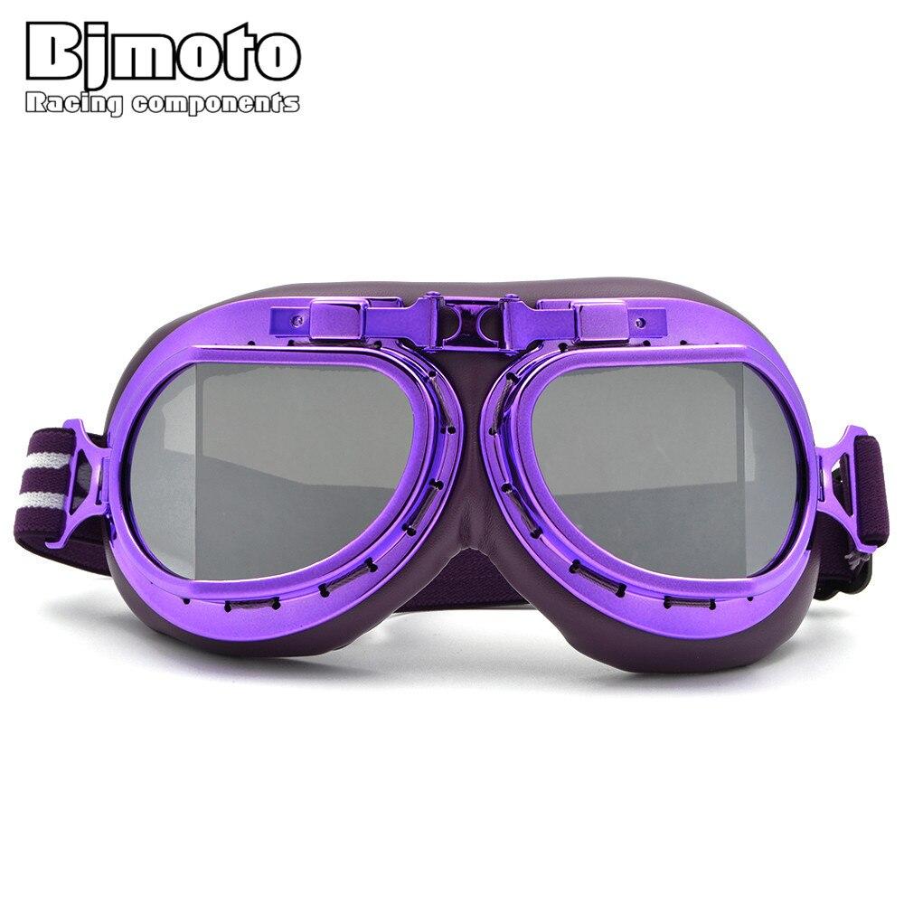 bad876c013080 BJMOTO Piloto Óculos de Proteção Da Motocicleta Do Vintage WWII RAF Aviador  Óculos De Motocross ATV da bicicleta da Sujeira em Óculos de Automóveis    Motos ...